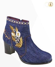 Desigual Stiefel, Biker, Herbst, Jeans, blau.