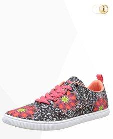 Desigual Sneaker, Sportschuhe, Sommer, schwarz, rot.