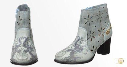 Desigual Stiefelette, Cris Jeans Chelsea Boots, Herbst, grau, blau.
