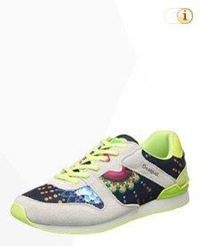 Desigual Sneaker, Sportschuh, Sommer, weiß, grün.