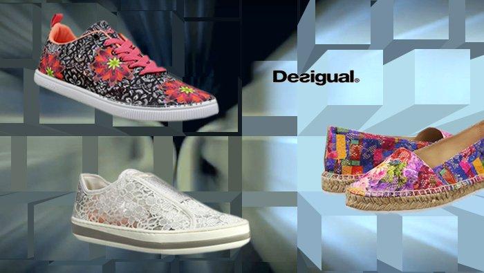Desigual Schuhe, Sportschuh, Sneaker, schwarz, weiß, bunt.