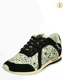 Desigual Sneaker, Sportschuh, Sommer, schwarz, grün.