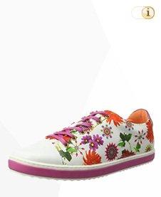 Desigual Sneaker, Sportschuh, Sommer, Blume, weiß.