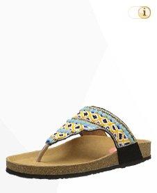 Desigual Sandale, Perlen, Sommer, blau.