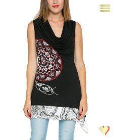 Desigual Shirt Blackville, schwarz.