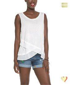 Desigual Sommer, Shirt Carola, weiß.