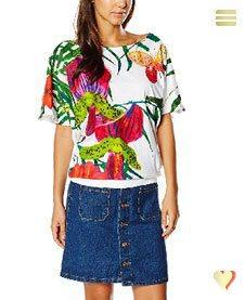 Desigual Shirt Eugenia, weiß.