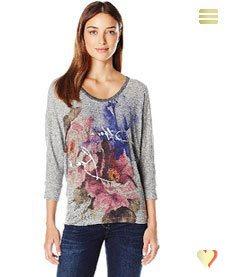 Desigual Damenshirt Florencia, grau.