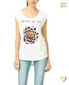Desigual Shirt Marbella, weiß.
