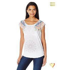 Desigual Sommer, Damenshirt basic Vest, weiß.