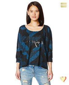 Desigual Shirt Mabel, blau.