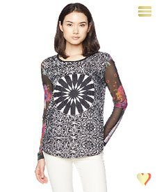 Desigual Damen Shirt Ainara, schwarz.