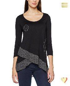 Desigual Shirt Lorena, schwarz.