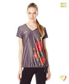 Desigual Damenshirt CD V-NECK, grau.