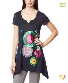 Desigual Sommer, Dekolletiertes Shirt Karine, schwarz.