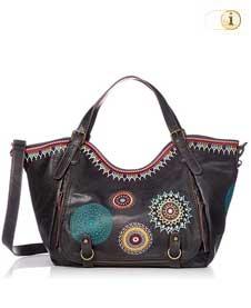 Schwarze Desigual Handtasche, BOLS SIARA ROTTERDAM, schwarz.
