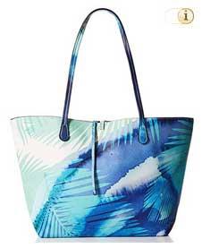 Blaue Desigual Tasche, Blue Palms Capri Shopper, blau.