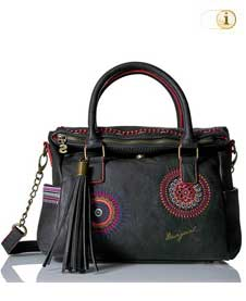 Schwarze Desigual Tasche, Bols Loverty Greta, schwarz.