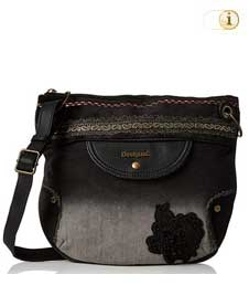 Schwarze Desigual Handtasche, Brooklyn Blackbout Across, schwarz.