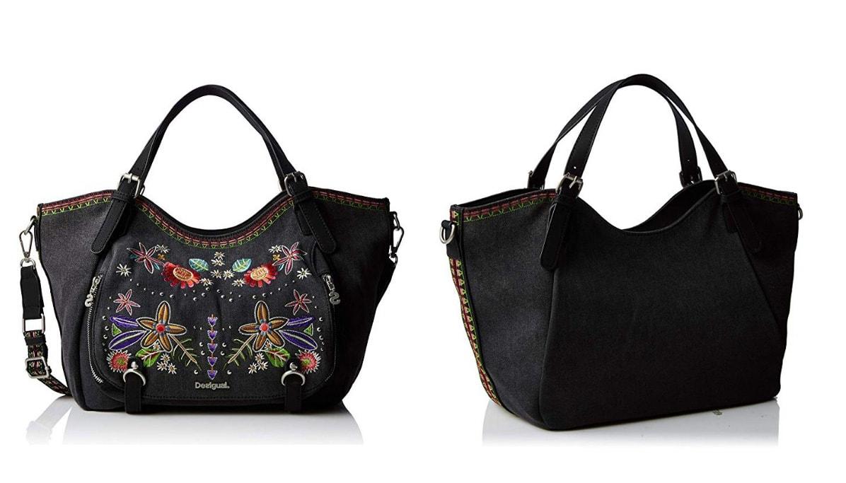 Schwarze Desigual Tasche, Candem Rotterdam - Handtasche, schwarz.
