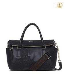 Schwarze Desigual Handtasche, Dark Amber Loverty, schwarz.