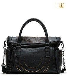 Schwarze Desigual Tasche, Bols Passion Loverty, schwarz.