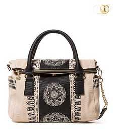 Desigual Handtasche, Lady Loverty, beige.