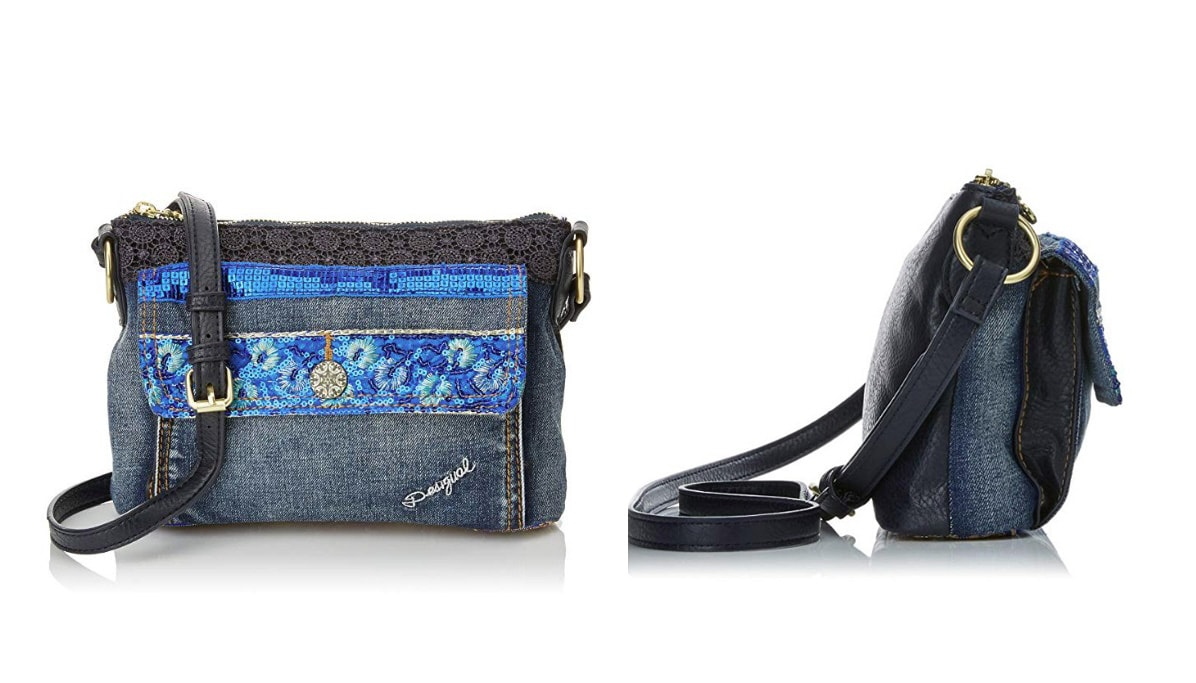 Blaue Desigual Tasche, Orleans-Extra Exotic, blau.