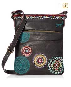 Schwarze Desigual Handtasche, Siara Ghana, schwarz.
