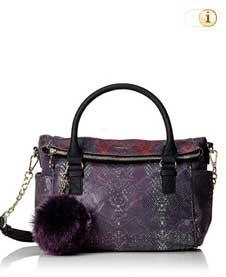 Desigual Handtasche, bols_loverty-carmin, purple.