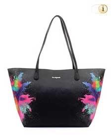 Schwarze Desigual Tasche, Holi-Capri, schwarz.