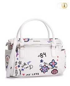 Desigual Tasche, shibuya-loverty, weiß.