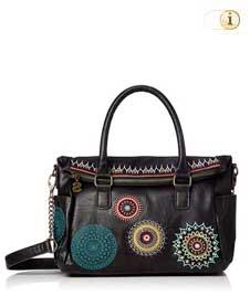 Schwarze Desigual Handtasche, siara loverty amelie, schwarz.
