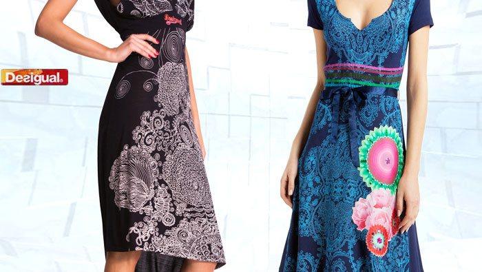 Desigual Herbst, Kleider, schwarz, blau.