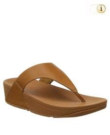 FitFlop Zehensteg-Sandale Lulu. Farbe: braun.