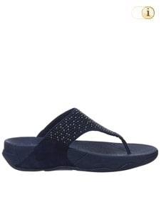 FitFlop Zehensteg-Sandale Lulu Glitter. Farbe: dunkelblau.
