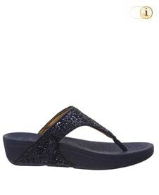 FitFlop Zehensteg-Sandale Lulu Glitter. Farbe: glitzy dunkelblau.