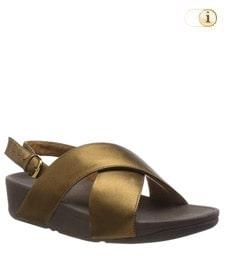 FitFlop Sandalette Lulu mit Fersenriemen. Farbe: schimmernd bronze.