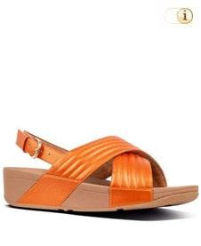 FitFlop Sandalette Lulu padded mit Fersenriemen. Farbe: orange.