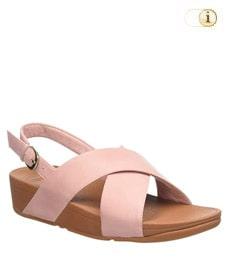 FitFlop Sandalette Lulu mit Fersenriemen. Farbe: rosa.