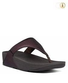FitFlop Zehensteg-Sandale Lulu. Farbe: gltzy schimmerndes Pflaume-metallic.