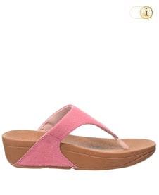 FitFlop Zehensteg-Sandale Lulu. Farbe: Pink Shimmer Denim.
