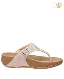 FitFlop Zehensteg-Sandale Lulu Novy. Farbe: rosa.