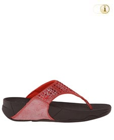 FitFlop Zehensteg-Sandale Lulu Novy. Farbe: rot.