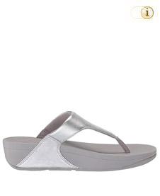 FitFlop Zehensteg-Sandale Lulu. Farbe: glänzend silber.