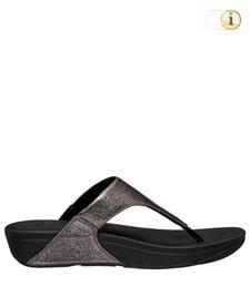 FitFlop Zehensteg-Sandale Lulu. Farbe: schimmernd zinn.