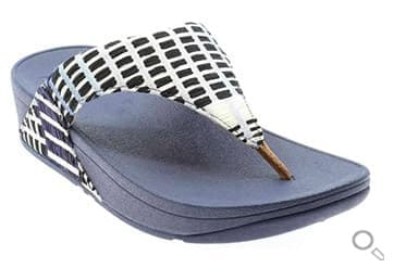FitFlop Zehensteg-Sandale Lulu. Farbe: Denim blau.