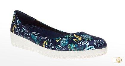 Blaue Fitflop Schuhe für Damen, BALLERINA, blau.