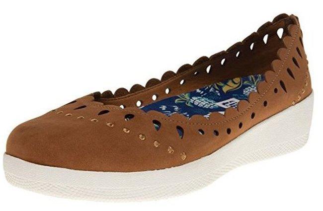 Braune FitFlop ANNA SUI LATTICED BALLERINA Schuhe.
