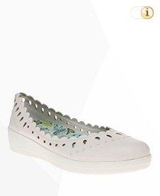 FitFlop Anna Sui Printed Ballerina Schuhe, Weiß.